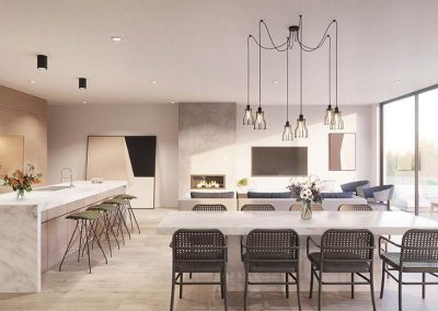 The Cascades | Kitchen, Dining and Living | House and Land for Sale in Kenmore, Brisbane | Artist's Impression