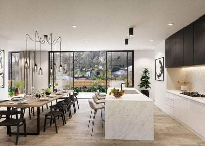The Cascades | Kitchen and Dining | House and Land for Sale in Kenmore, Brisbane | Artist's Impression