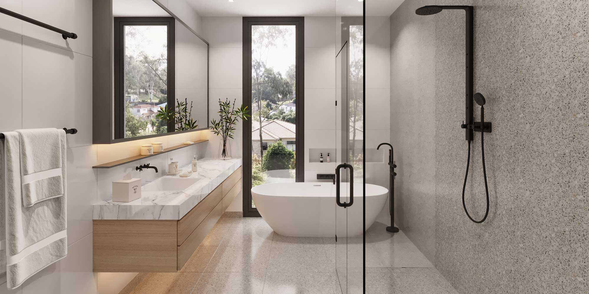 Bathroom at The Cascades | House and Land for Sale in Kenmore, Brisbane | Artist's Impression